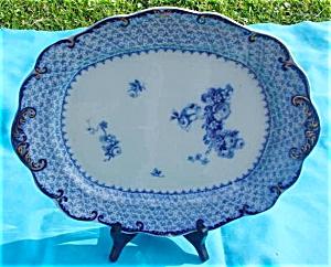 Flow Blue Theodore Ridgways England Platter (Image1)