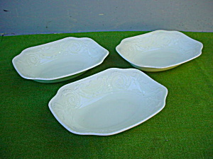 Oval Serving Bowls Adams Antique Steubenville (Image1)