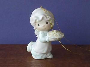 Precious Moment Ornament Dropping Over Xmas