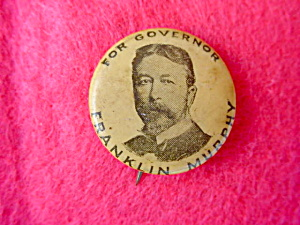 Franklin Murphy New Jersey Governor Pinback
