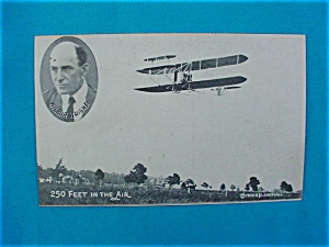 Nice, Early Wilbur Wright Airplane Postcard (Image1)