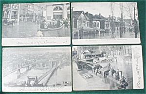(8) 1907 Flood of Wheeling, WV Postcards (Image1)