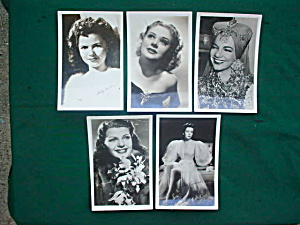 1940's Movie Actress' Postcard Collection (Image1)