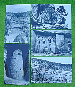 5 Manitou, Colorado Cliff Dwellings Postcards (Image1)