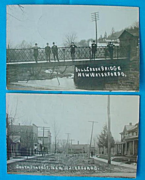 Early Real Photo New Waterford Ohio Postcards