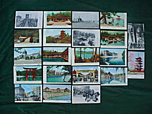 Group Of Old Japanese Postcards