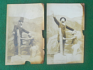 Photo Postcards Abe Lincoln?? Free Slave  (Image1)
