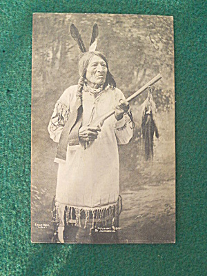 Eagle Man Sioux Chief J.a. Anderson Postcard