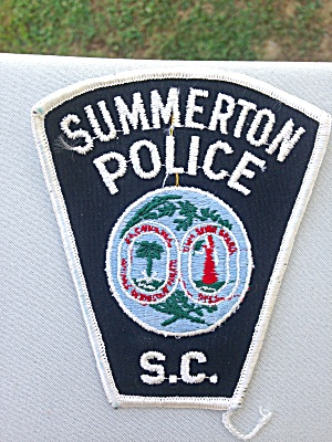 Summerton Sc South Carolina Police Patch