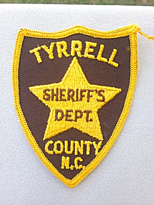 Tyrrell Co. North Carolina Sheriff's Patch