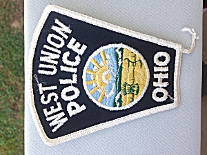 West Union Ohio Police Patch