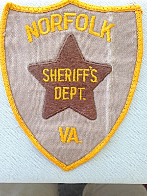 Norfolk Virginia Sheriff's Dept Patch