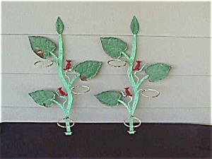 1950's Iron Tree Branch w/Bird Plant Holders (Image1)