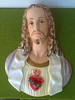 Vintage Chalkware JESUS Wall Hanging (Image1)