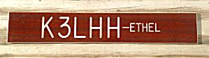 Vintage Ham Radio Call Name Display (Image1)