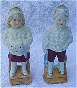 German Boy & Girl Ceramic China Figurines (Image1)