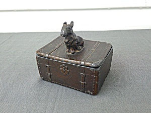 Old Pot Metal/Cast Scotty Trinket Box (Image1)