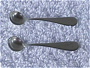 Pr. of Sterling Silver Salt Spoons (Image1)
