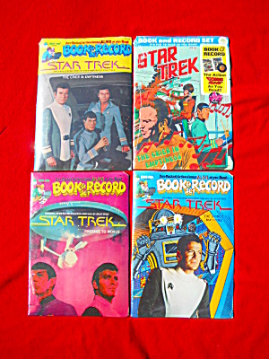 4 1970's Star Trek Book & Record Sets Sealed