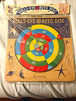 Vintage Gotham Press Steel Bullseye Roto Disc