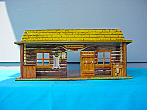 Marx Bar M Ranch Tin Playset Building