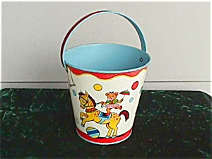 Exc. Chein Circus Theme Child's Sand Pail (Image1)