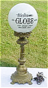 Historical Globe Hotel Lamp Bellaire, Ohio (Image1)