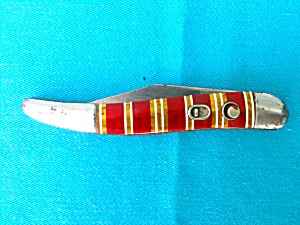 Vintage Hammer Brand Striped Pocket Knife