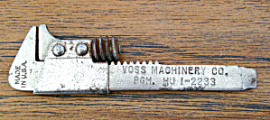 Voss Machinery Pittsburgh Pa Adver. Wrench