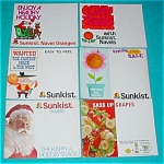 (6) Early 1970's Sunkist Adver. Posters