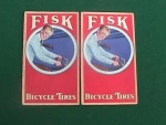 Click here to enlarge image and see more about item adv17: (2) Fisk Bicycle Tires Adver. Ink Blotters