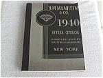 H.M. Manheim 1940 Jewelry/Watch Catalog