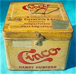 Click to view larger image of Early Cinco Tobacco Humidor Tin (Image1)