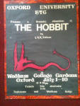 Click here to enlarge image and see more about item art32: Tolkien Hobbit Poster Oxford University