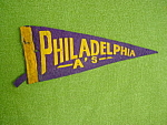 Old Philadelphia A's Baseball Pennant