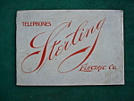 1900's Sterling ElectricTelephone Catalog