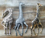 Click to view larger image of 3 Different Giraffe Brooch Pins (Image1)