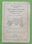 Click to view larger image of McCormick-Deering F-20 Tractor Manual (Image1)