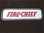 Click here to enlarge image and see more about item car25: Fire Chief Glass Sign Texaco???