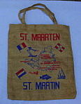 Click to view larger image of Early,  St. Martin Souvenir Tote/Hand Bag (Image1)