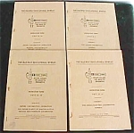 (4) 1950 Railroad Locomotive Books