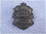 Click here to enlarge image and see more about item car37: Early Co-Operative Bus Co. Hat Pin Badge