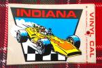 Indiana Travel Decal w/Race Car