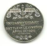 Click to view larger image of Whitehead & Hoag Battle of Lexington Coin (Image2)