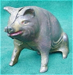 Click here to enlarge image and see more about item cbd11: Early Cast Iron Pig Bank