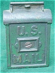Click here to enlarge image and see more about item cbd7: Old Cast Iron U.S. Mailbox Still Bank