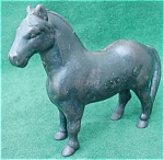 Click here to enlarge image and see more about item cbd9: Early Cast Iron Horse Still Coin Bank