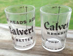Pr. of Vintage Calvert Whiskey Shot Glasses