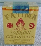 Click to view larger image of 40's Unopened Pack  Fatima Turkish Cigarettes (Image1)