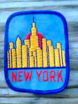 Old Patch Skyline of New York City